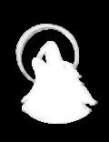 logo spennellato bianco